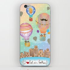 I {❤} Hot Air Balloon iPhone & iPod Skin