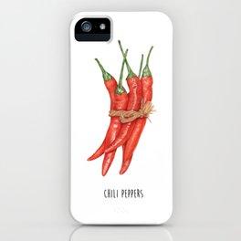 Chili Pepper - Kitchen Poster - Red Pepper Decor - Illustration wall Art -  Wall Art - kitchen Art iPhone Case