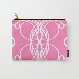 Pink White Swirl Carry-All Pouch