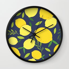 Freshly Picked Lemon Wall Clock