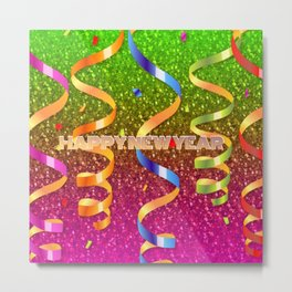 Sparkling happy new year Metal Print