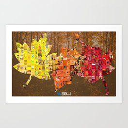 Literary Leaves Art Print