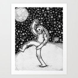 Skellynaut Art Print