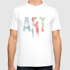 Art & Protest Mens Fitted Tee White MEDIUM