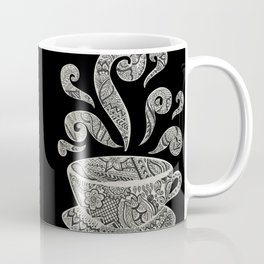 But first, Coffee - tea coffee lover zentangle Coffee Mug