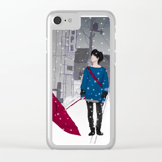 In The Snow Clear iPhone Case