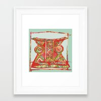 african Framed Art Prints featuring african by Silvia Gentilini