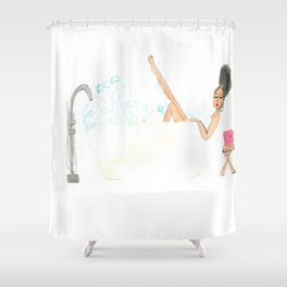 Bella's Bubble Bath Shower Curtain
