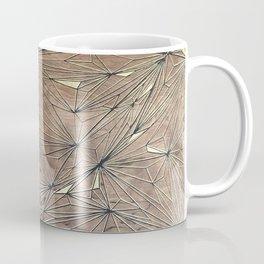 Stare Geometric Fractals on Wood Coffee Mug