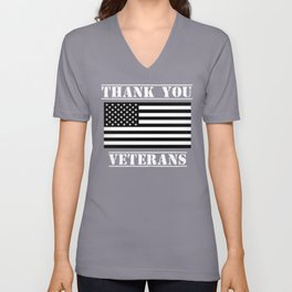Thank You Veterans Patriotic Veterans Day Shirt Unisex V-Neck