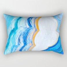 Blue and gold agate Rectangular Pillow