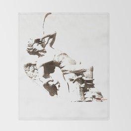 The Fallen Angel Throw Blanket