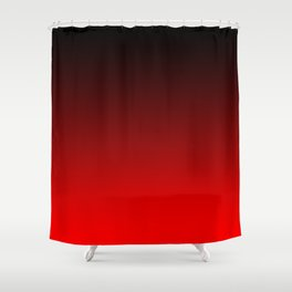 Black Red Neon Nights Ombre Shower Curtain