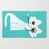 budi Area & Throw Rugs featuring Mark - Aristo-Cat by Picomodi