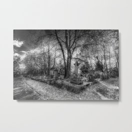 Highgate Cemetery London Metal Print