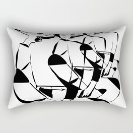 thinking dimension Rectangular Pillow
