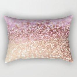 Mermaid Rose Gold Blush Glitter Rectangular Pillow
