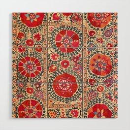 Samarkand Suzani Southwest Uzbekistan Embroidery Wood Wall Art