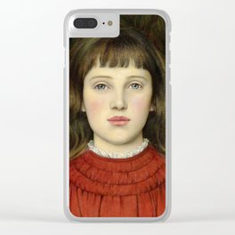 "Evelyn De Morgan ""Portrait of Alice Mildred Spencer Stanhope"" Clear iPhone Case"