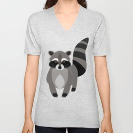 Raccoon in the Night Unisex V-Neck