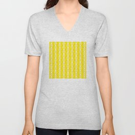 Geometric Pattern 168 (yellow stars) Unisex V-Neck