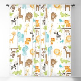 Jungle Animals Blackout Curtain