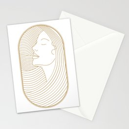 Girl Art Deco 11 Stationery Cards
