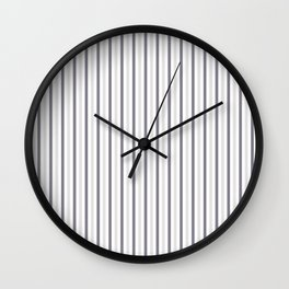 MAUVE GRAY STRIPES Wall Clock