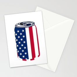 American Beer Can Flag Stationery Cards