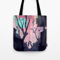 lovers Tote Bags featuring Lovers by youcoucou