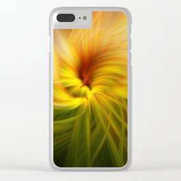 Sunflowers Twirled Clear iPhone Case