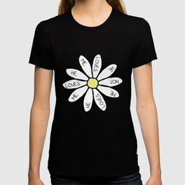 LOVES ME LOVES ME NOT TOP CROP WOMENS DAISY FLORAL HIPSTER TUMBLR INDIE HIPSTER T-shirt