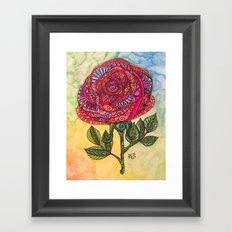 Just Rosy Framed Art Print