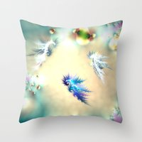 nursery Throw Pillows featuring Seahorse Nursery by Shalisa Photography
