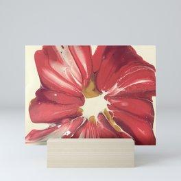 Magenta Red Spin Flower Mini Art Print