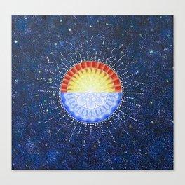 Sunrise/Moonset Mandala Canvas Print