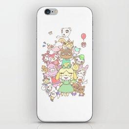 Animal Crossing mashup (white) iPhone Skin
