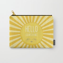 KAWAII SKY - happy smiling sun - hello sunshine quote Carry-All Pouch