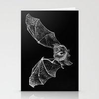 bat Stationery Cards featuring Bat by Cortney Palmer Art