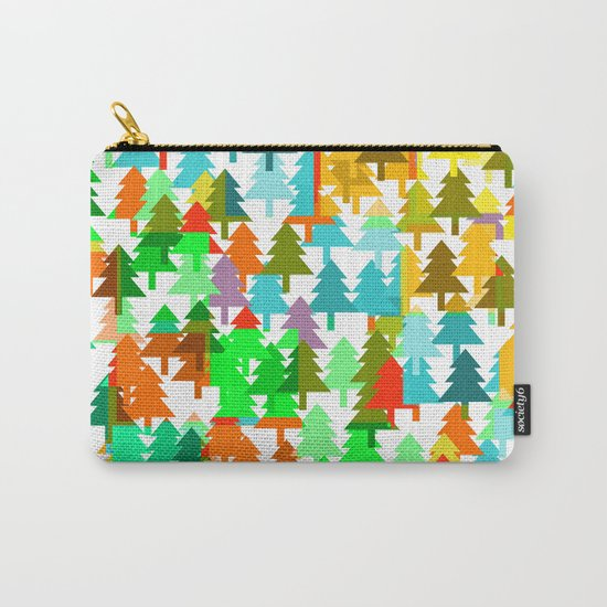 Colorful fir pattern Carry-All Pouch