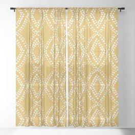 Diamond Dots in Yellow Sheer Curtain