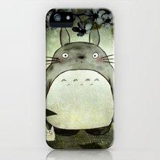 Totoro in the rain iPhone (5, 5s) Slim Case