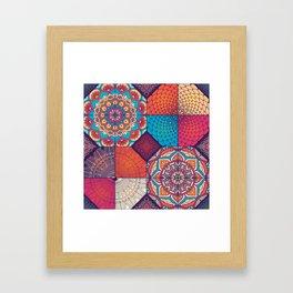 Colorful Mosaic Boho Design Framed Art Print