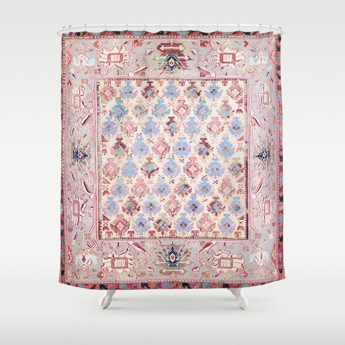 North Indian Dhurrie Kilim Print Shower Curtain