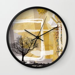 Fine Art of The Winter Smell Touching the Lonely Tree! Wall Clock