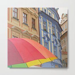 Rainy Day in Prague Metal Print