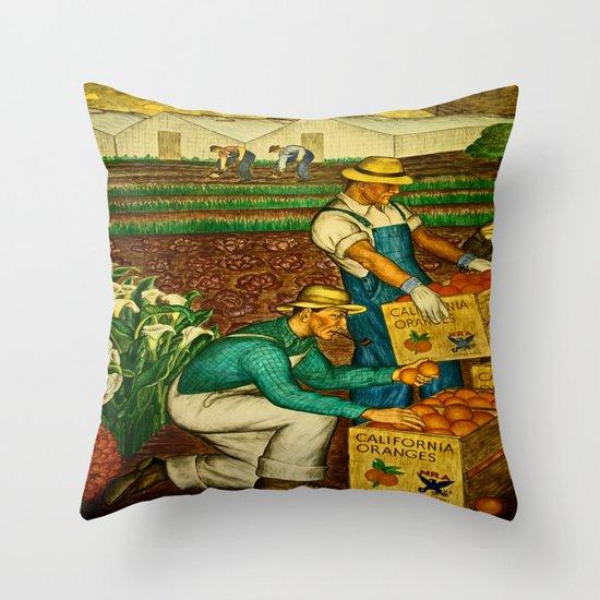 A gathering of an Orange Harvest Throw Pillow