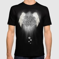 Angel of the chaos Mens Fitted Tee MEDIUM Black