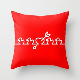Heart Shoot Throw Pillow