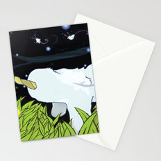chasing apple spores Stationery Cards